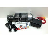 Лебедка электрическая 12V Electric Winch 12000lbs / 5443 кг (блок управления IP66) кев.трос 12mm, 28 м