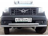 Дуга-защита переднего бампера УАЗ-ПРОФИ сдвоенная
