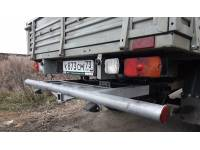 Задняя защита-ограничитель УАЗ-ПРОФИ с квадратом под фаркоп 50х50