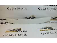 Дефлектор капота на УАЗ Патриот без надписи, крепл на двустор. скотч /Белый