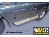 Комплект подножек на УАЗ 469 Хантер усиленные с алюминиевыми накладками