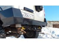 Кит-набор для самостоятельной сварки и окраски бампера Т-34 задний усиленный на УАЗ Патриот